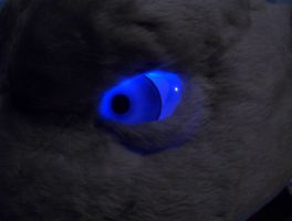 Mewtwo Glass Eye Blue LED by Path-e-tech-graphics