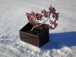 Wire bonsai red and black I by Wilya12