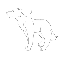 wolf outline for pachirisucat by ImWolfyQ