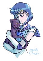 Mercury and Luna by Yamino