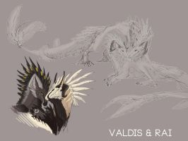 Valdis and Rai Sketch Comm. by Yuroboros