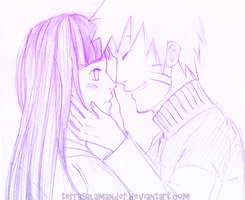 NaruHina: Untitled by terrasalamander