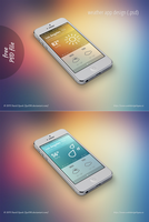 FREE weather app design (.psd) by lys036