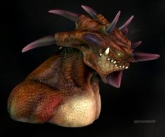 Triceratops Demon by JoDaC