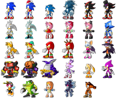 Sonic Runners - Character Roster!! by supersilver1242