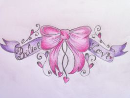 Bow Lower Back Tattoo Design by Cupcake-Lakai