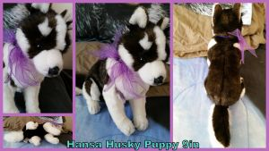 Hansa Husky puppy 9in by Vesperwolfy87