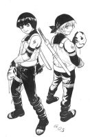 Naruto and Lee - Anbu. by Autumn-Sacura