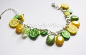 Lemon and Lime Bracelet by DragonsDust