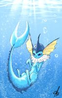 Vaporeon by ShadowChild71