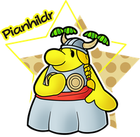 Paper Mario World Partner - Pianhildr by CrackedGoggles