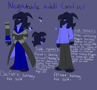 Negatale Adult Asriel ref by ReneesDetermination