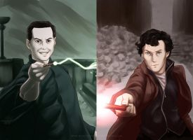 Let's Draw Sherlock - Deathly Hallows by MarvelPoison