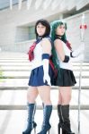 Sailor Saturn and Sailor Pluto by RaindropCosplay