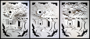 Cut paper fairytale by unsteadily