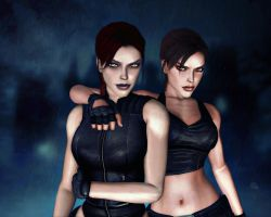 Lara and Doppelganger Croft 03 by Halli-well