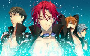 Samezuka Academy Swimming Relay Team by Breetroad