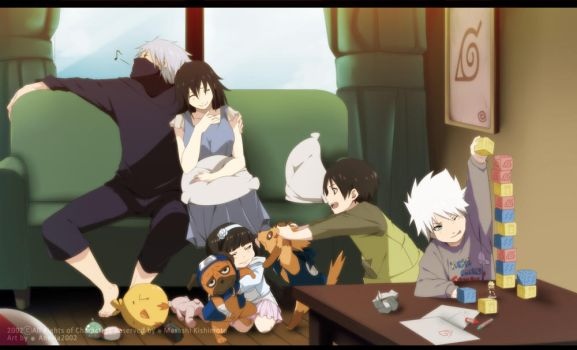 Kakashi and Shirahime: Family Time by annria2002