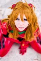Asuka Soryu Langley plugsuit cosplay by HeavenAndSky