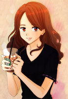Iced coffee by annakarinaart