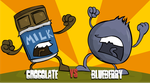 Chocolate vs Blueberry by Wonchop