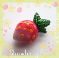 Strawberry Pin by yuki-the-vampire