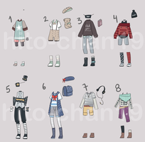 [Auction][CLOSED] Outfit Batch 8 by hito-chan19
