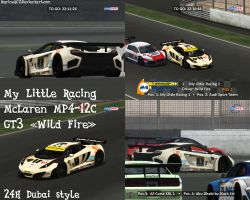 GTR Evo: McLaren MP4-12C GT3 'Wild Fire' 24H Dubai by MarineACU