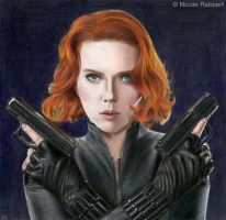 Black Widow - Avengers (colour pencils) by Quelchii
