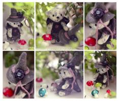 Witch Teddy Bear by dallia-art