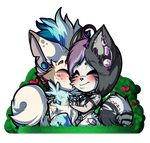 Vday Couple Chibis Small Copy by TwistedDisaster