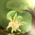 Leafeon by Xenophilius-Lovegood