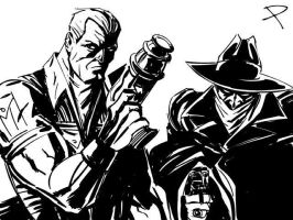 Doc Savage and The Shadow by jaypiscopo