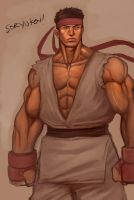 Ryu WIP by darkeyez07
