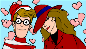 Waldo and Carmen Sandiego by JohnnyRocker666