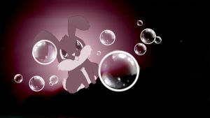 Follow the bubbles young bunny by MeggaSweetSmiles