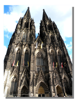 Cologne Cathedral West Face by WillFactorMedia