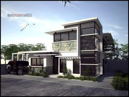 contemporary house by davens07