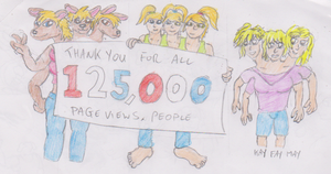 thank you for 125,000 Pageviews by WhippetWild