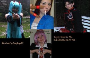Mi-chan's Cosplays by Lenalee-chwan