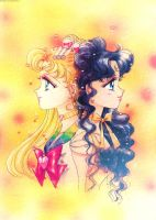 Tumblr: Sailor Moon and Luna by bakaprincess85