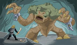 Fresh Paint-The Rancor by chief-orc