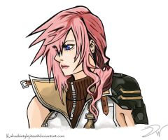 Lightning Final Fantasy XIII by DavidWoods