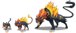 Litten - Starter Fake Evolution by Coalbones