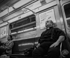 Padre on the Train by steeber
