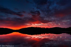 Sunset Reflection 10-24-2010 by pennuja