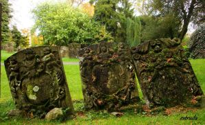 Ancient Gravestones by Estruda