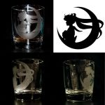 Sailor Moon Etched Glass Design by Ranefea