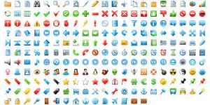 16x16 Free Application Icons by Ikonod