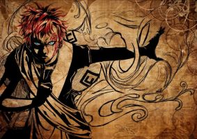 Gaara Fanart upgrade by Archiri
